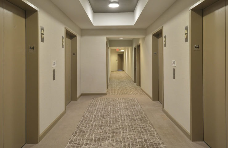 hallway and elevators