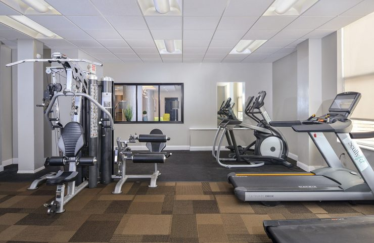 weight machine and elliptical in the fitness center