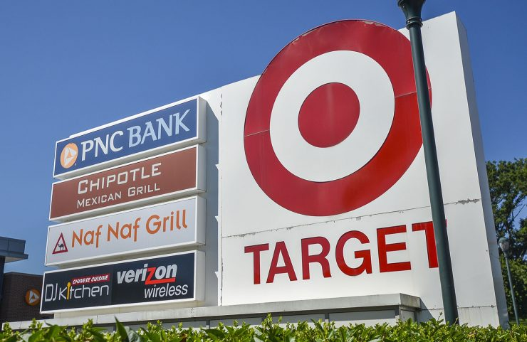 Nearby: Shopping Center with Target, PNC Bank, chipotle, naf naf grill and verizon