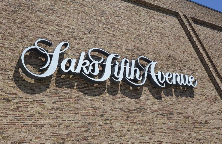 Nearby: Saks Fifth Avenue signage