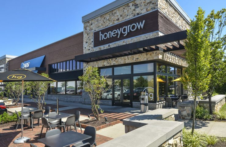 Nearby: Honeygrow with outdoor seating