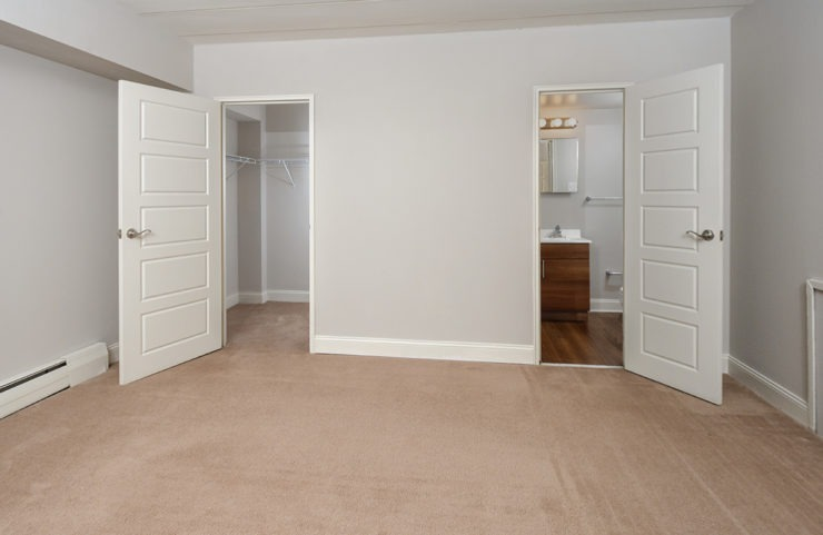 empty bedroom with walkin closet and master bath