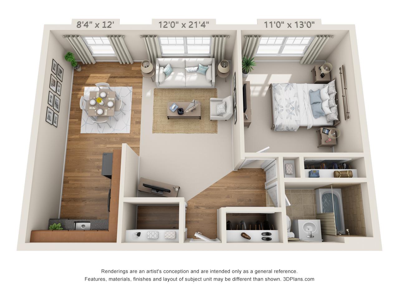 one bedroom apartment in horsham