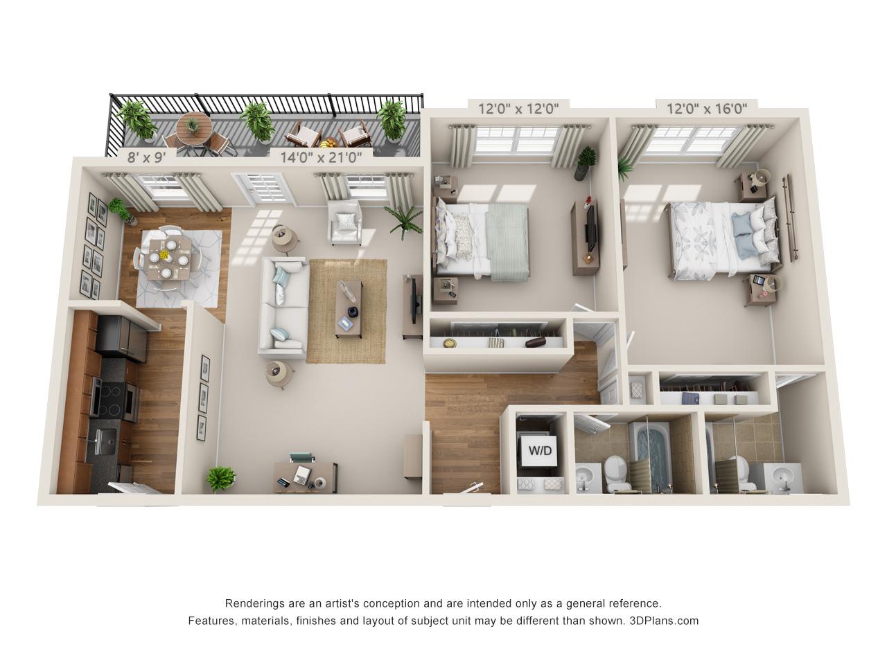 2 bedroom apartment in horsham pa