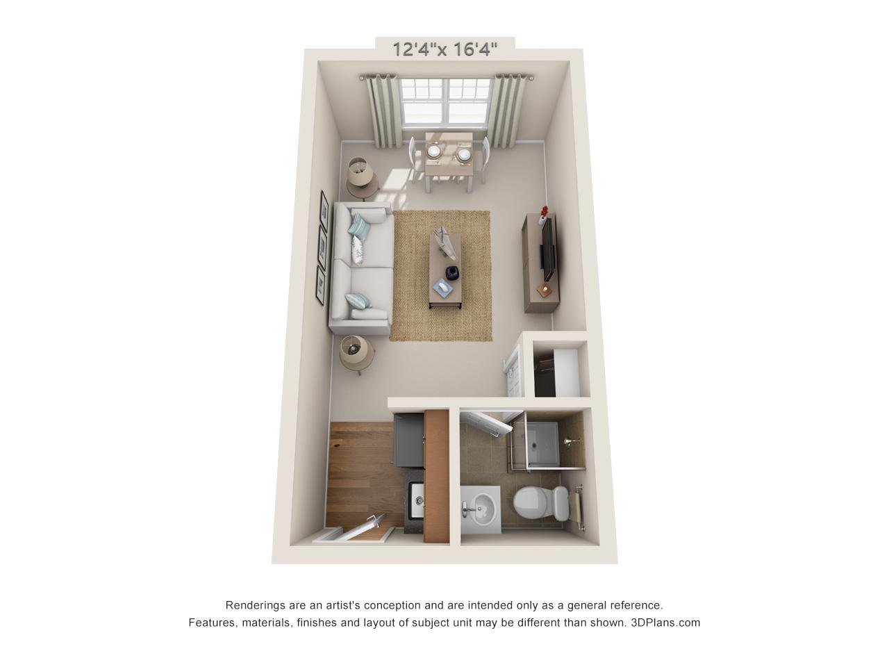 studio apartment in horsham