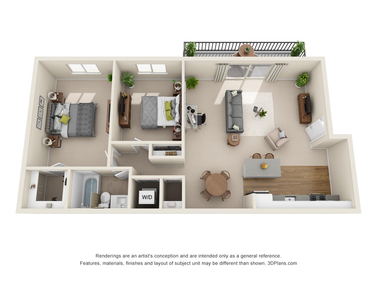 east falls 2 bedroom apartment