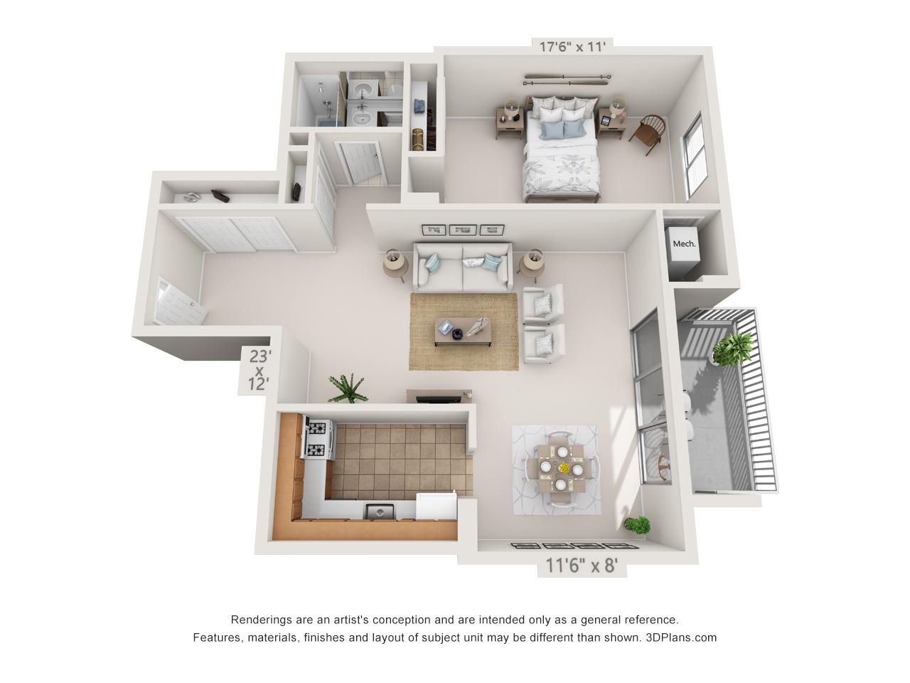 1 bedroom apartment in east falls