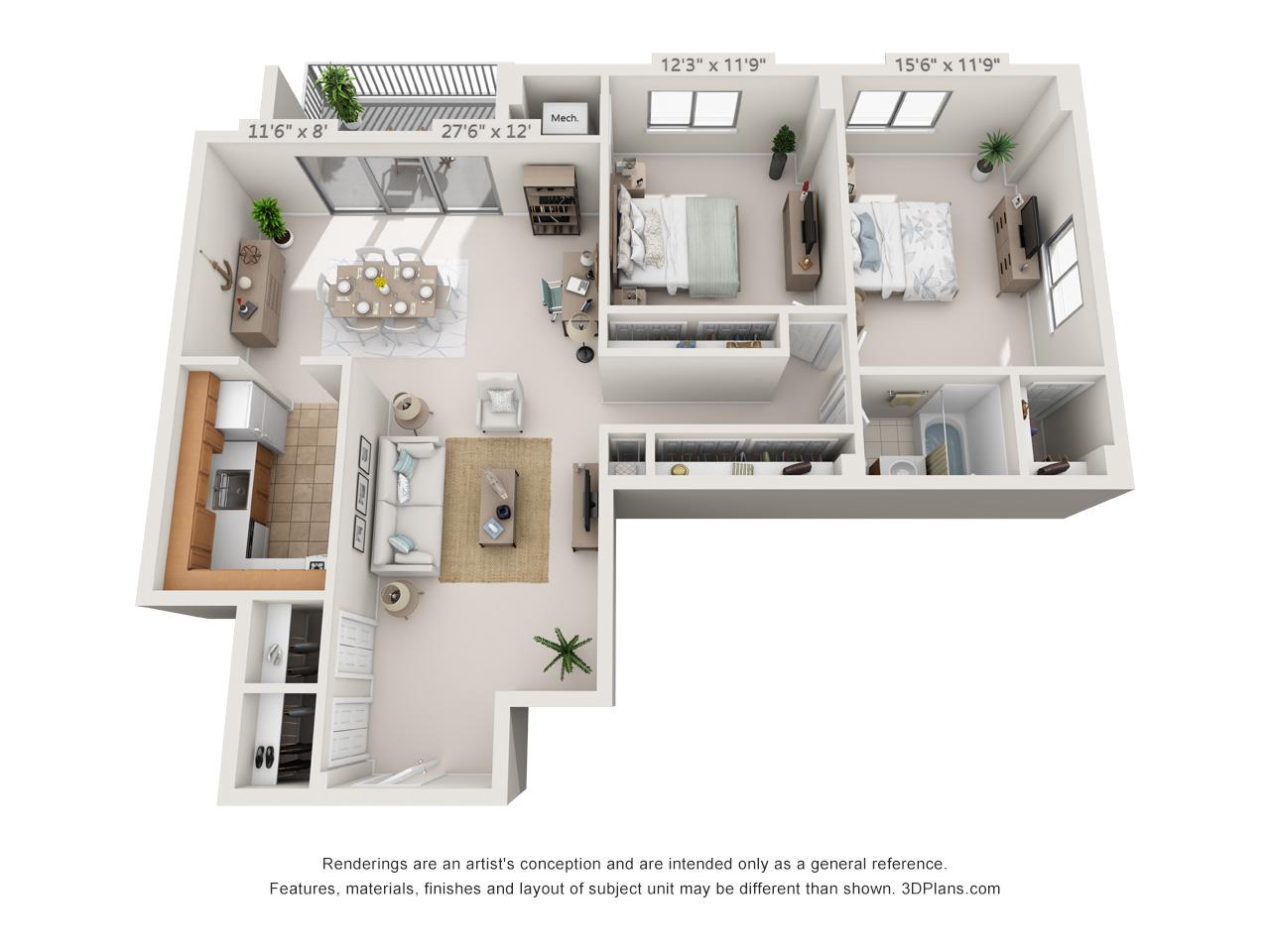 2 bedroom apartment in germantown