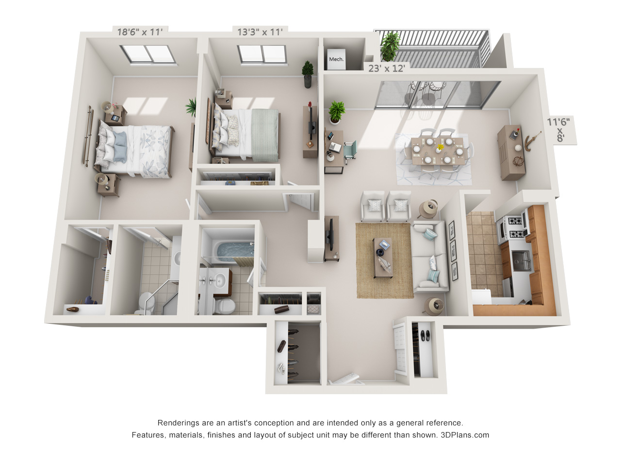 2 bedroom apartment in east falls
