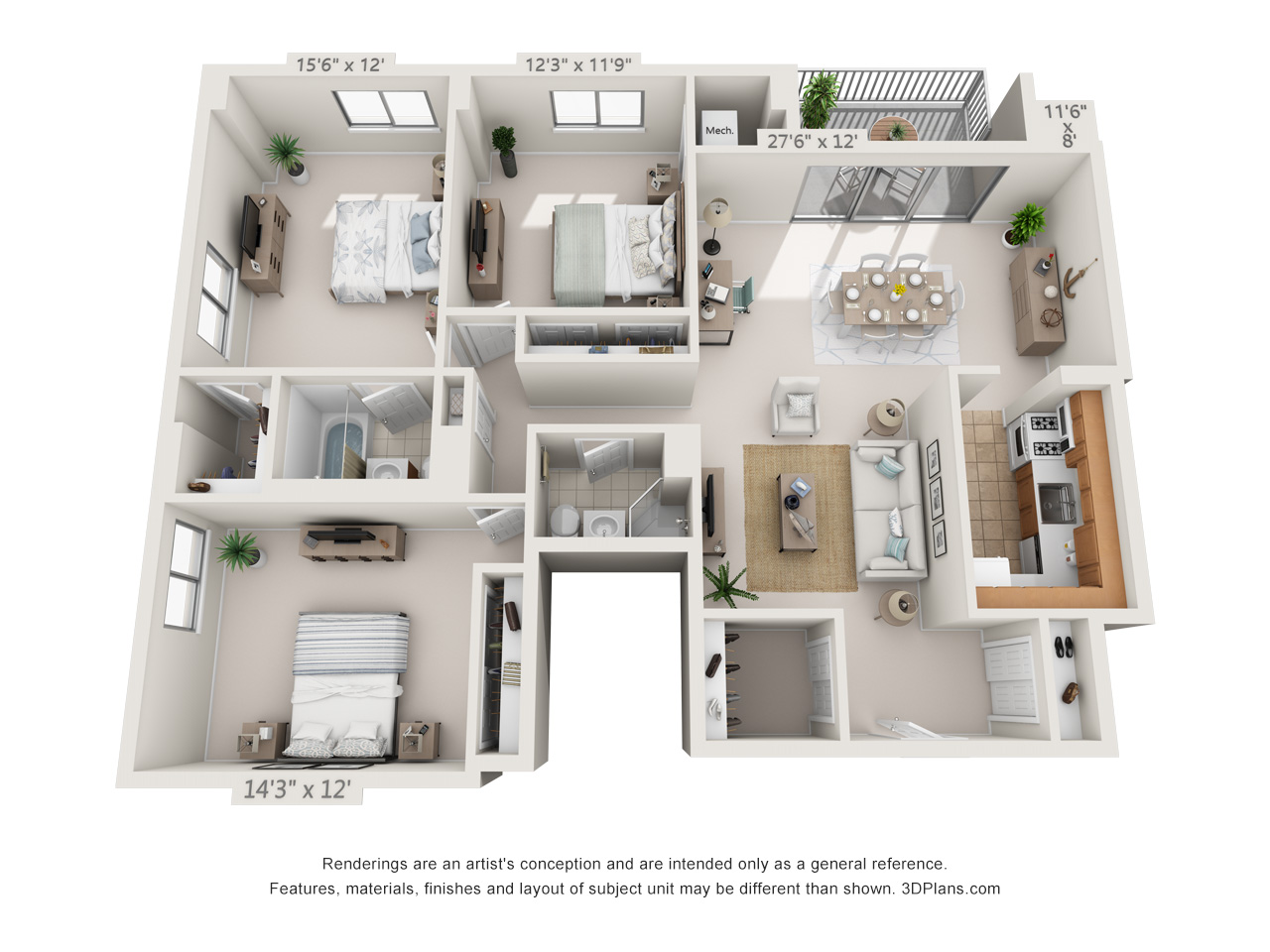 3 bedroom apartment in east falls