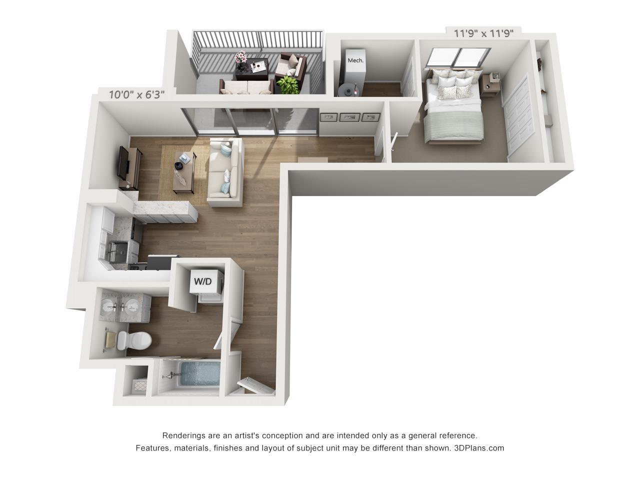 1 bedroom penthouse in east falls