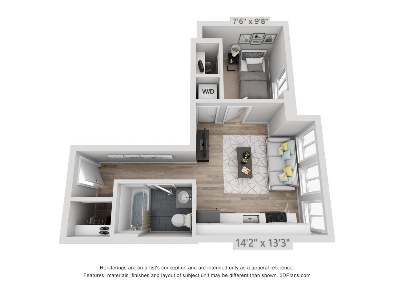 1 bedroom apartment near rittenhouse square
