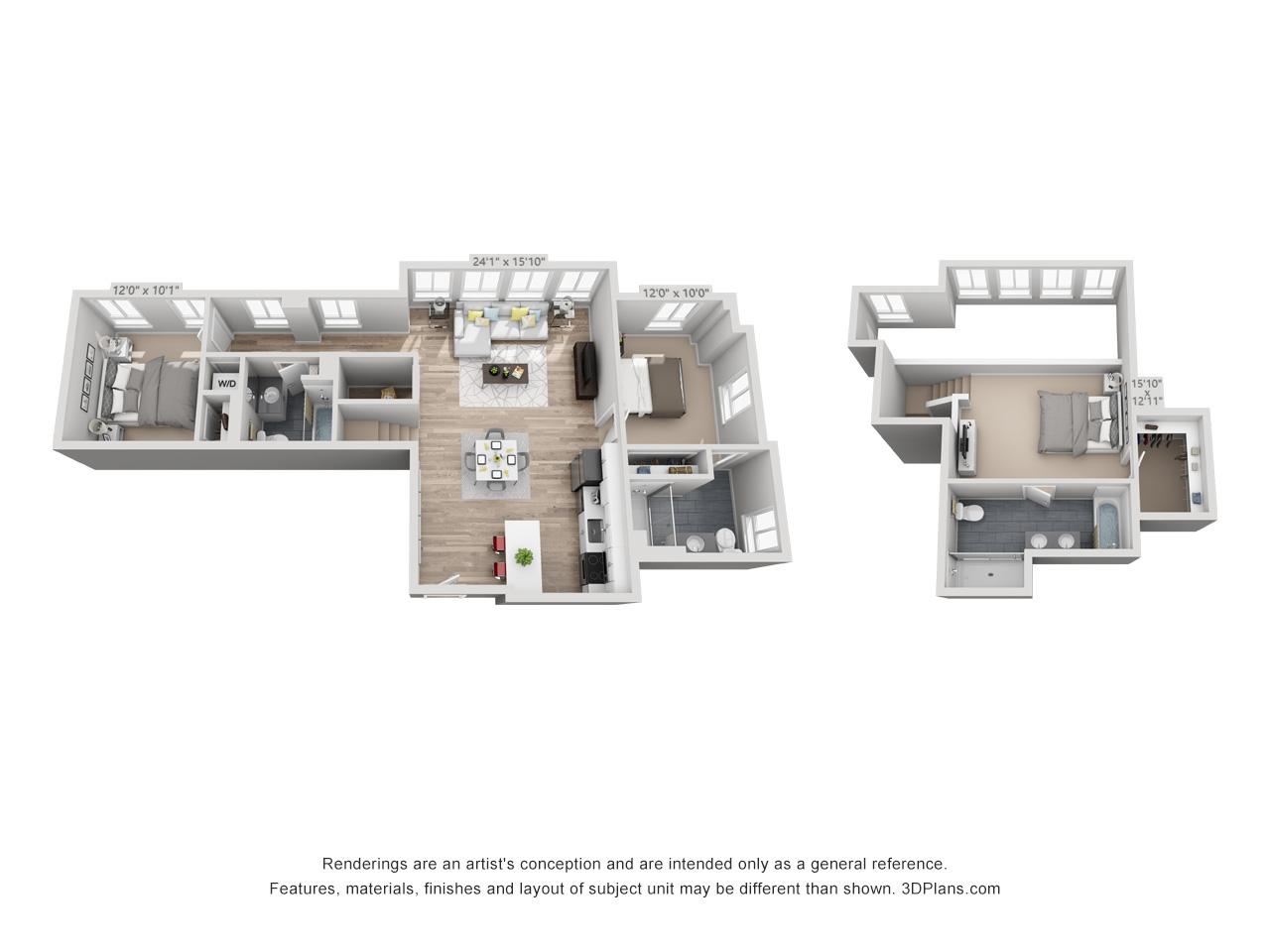 3 bedroom apartment in rittenhouse square area