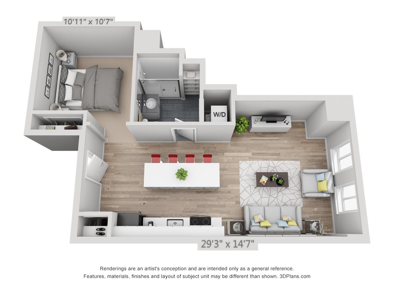 studio apartments in rittenhouse square