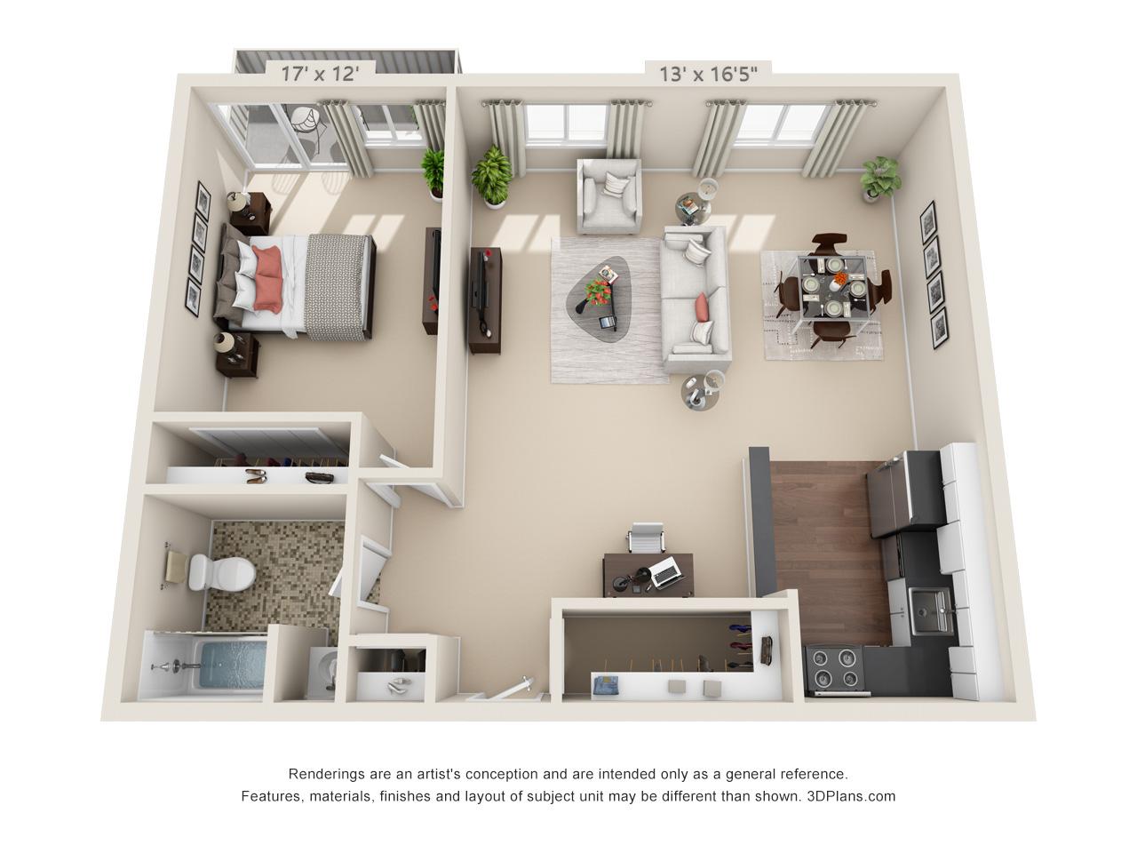 1 bedroom apartment in philadelphia