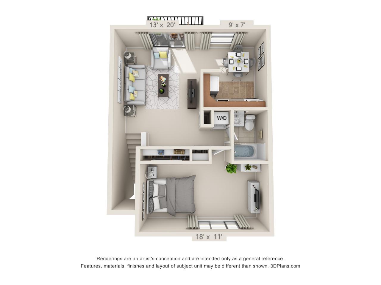1 bedroom apartments in langhorne