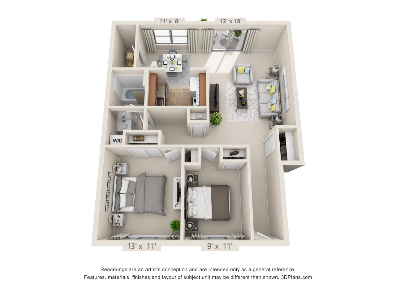 2 bedroom apartment in langhorne