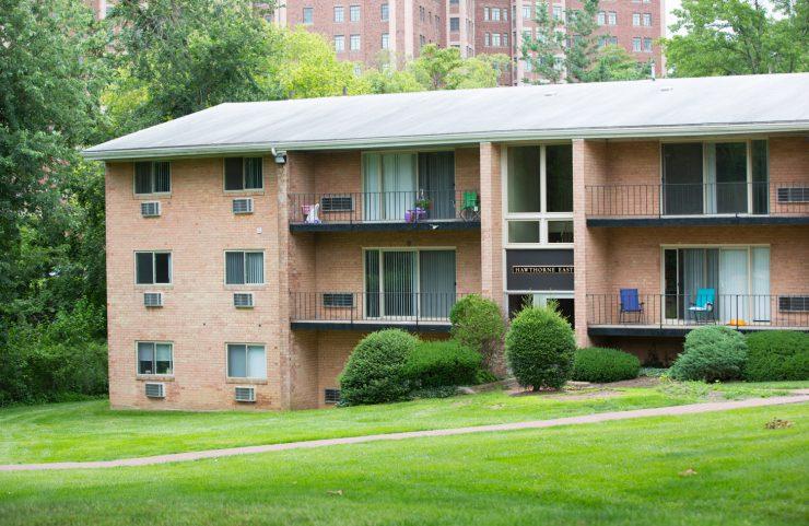 exterior showing balconies and walkway