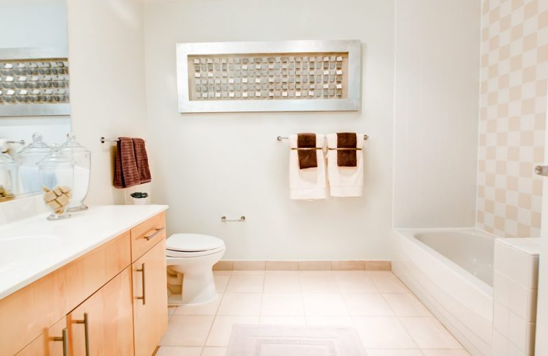 Oversized kitchens and bathrooms