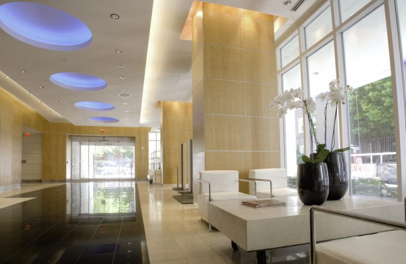 Lobby with 24 hour professional concierge