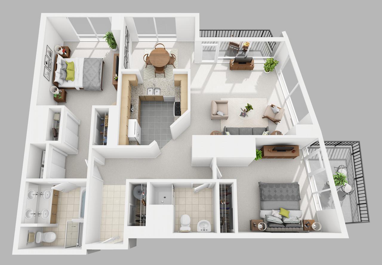 2 bedroom apartment in washington square