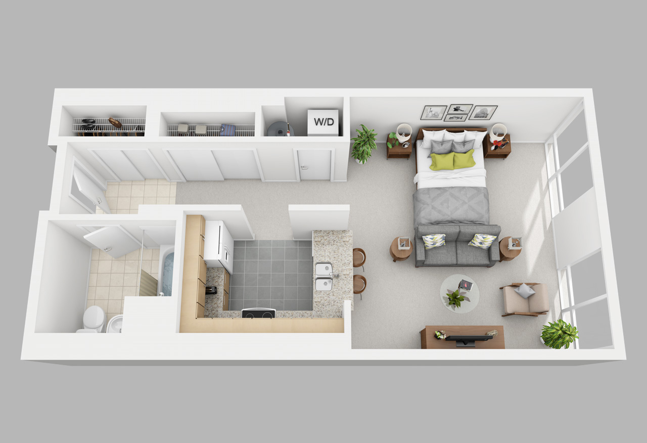 studio apartment in washington square philadelphia