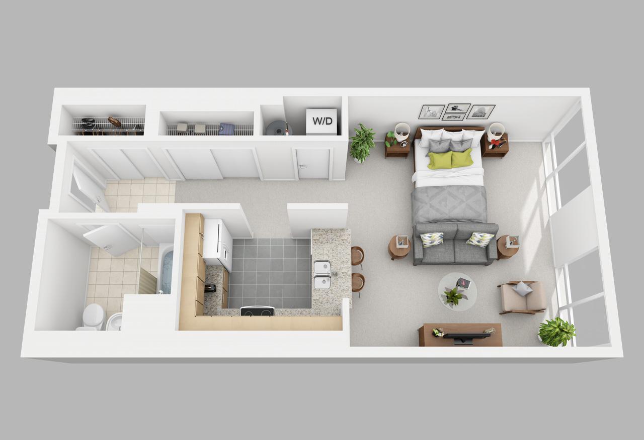 studio apartment in washington square philadelphia