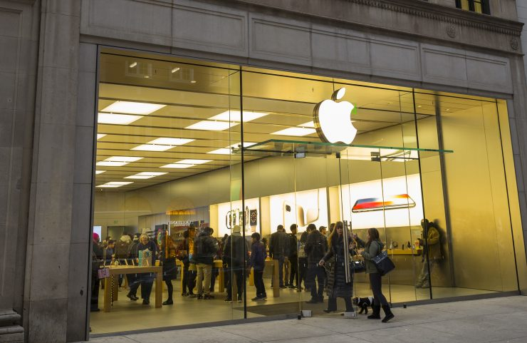 entrance to the Apple store