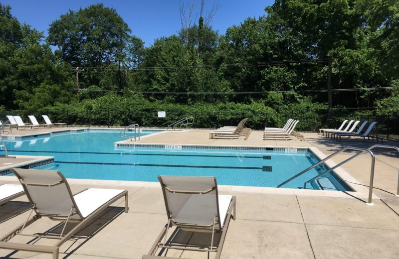 Outdoor Pool with Spa and Pool Deck
