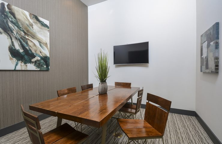 conference room with av equipment