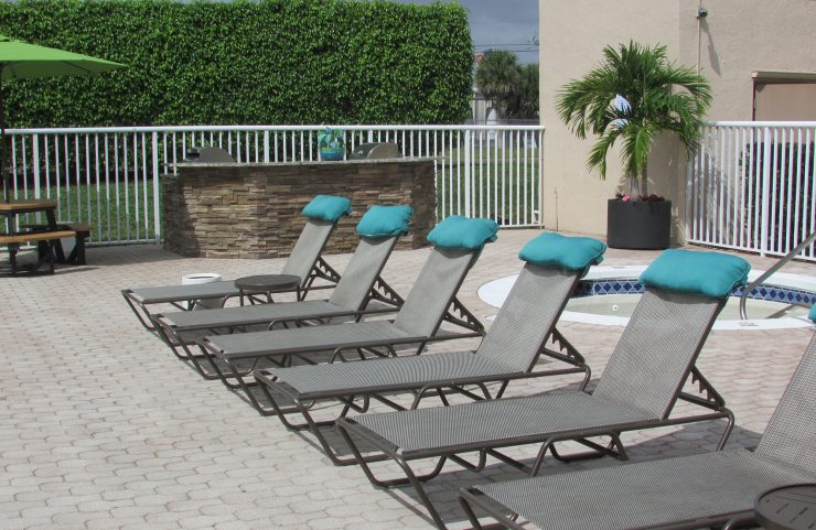sun deck with outdoor pool