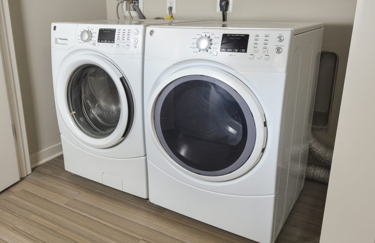 full size washer and dryer in apartment home