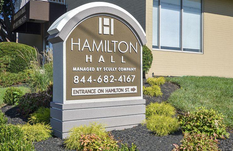 hamilton hall sign