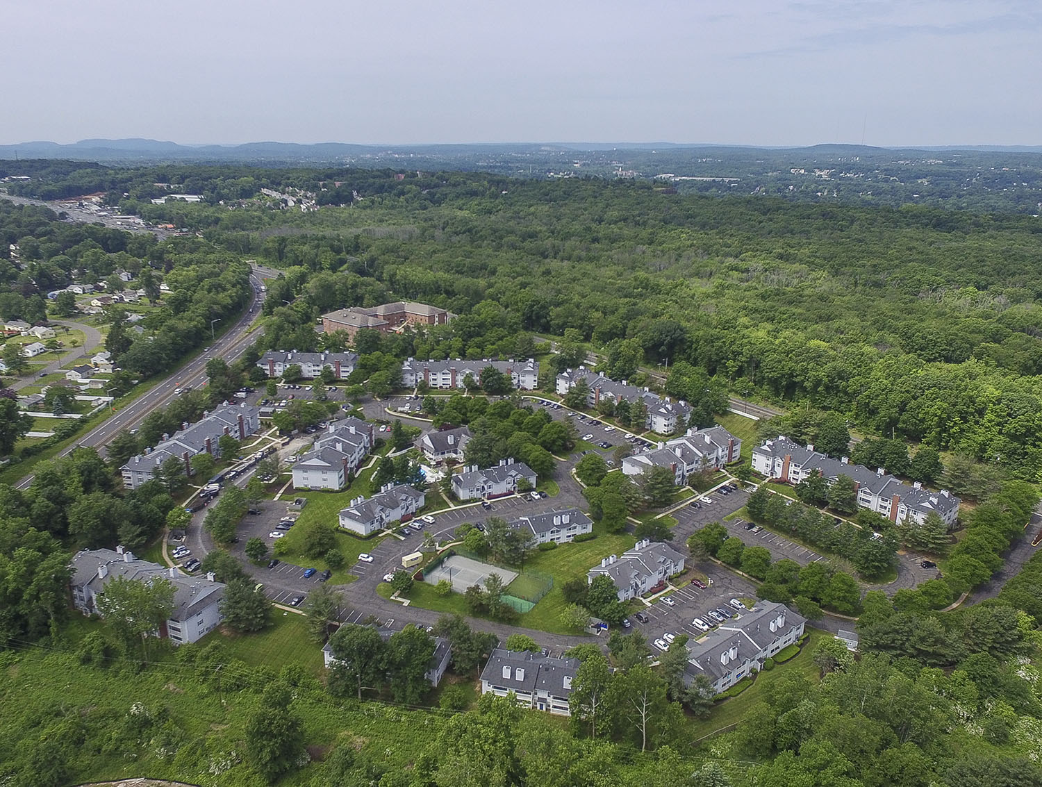 aerial view of the village at wethersfield