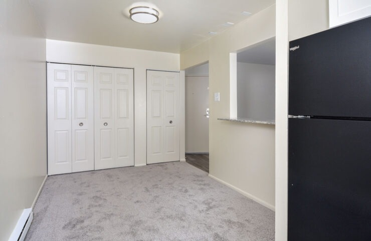 Dining room with storage space