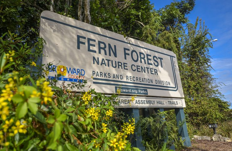 Nearby: Fern Forest Nature Center signage
