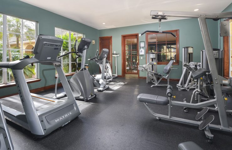 cardio equipment and weight machines in the fitness center