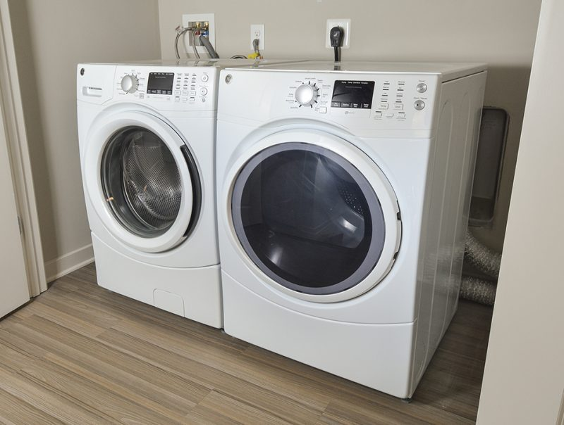 Full Size Washer & Dryer In Each Home