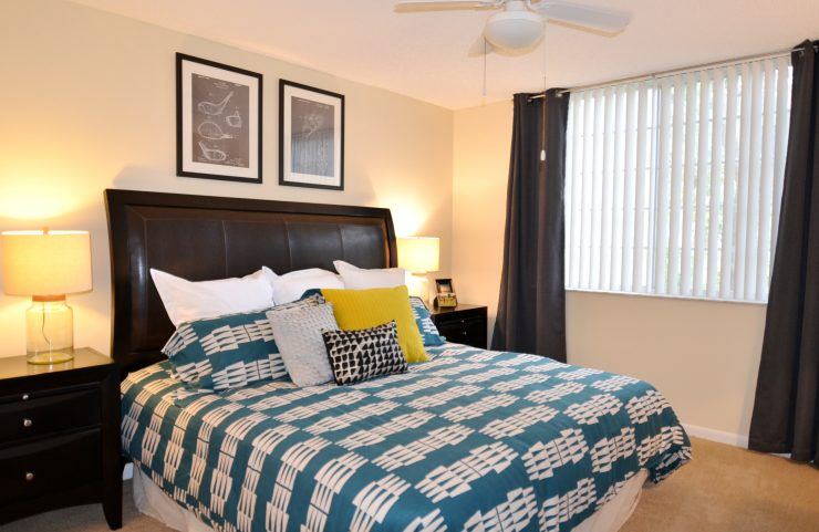 carpets in bedroom and natural sunlight
