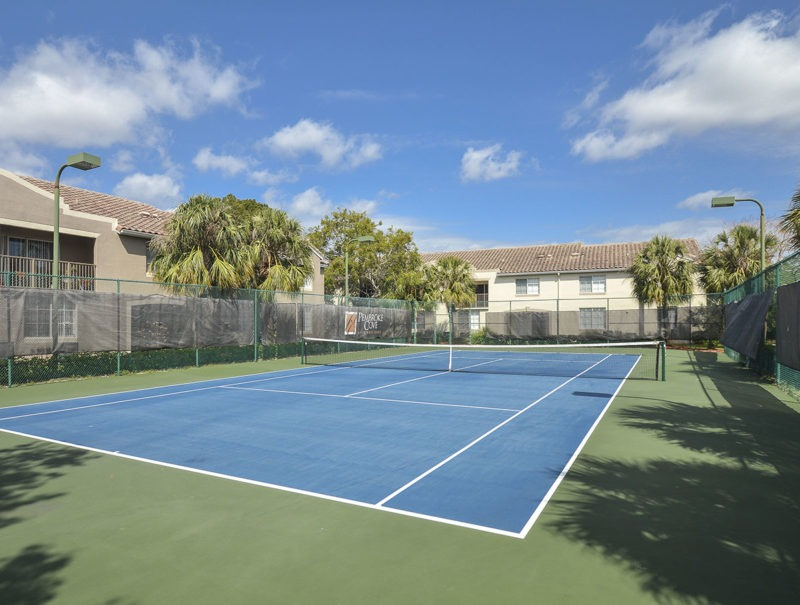 Tennis Courts with LED Lighting