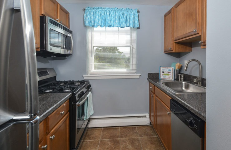 kitchen with gas stove and stainless steel appliances