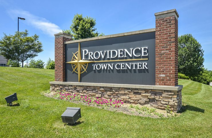 Nearby: Providence Town Center signage