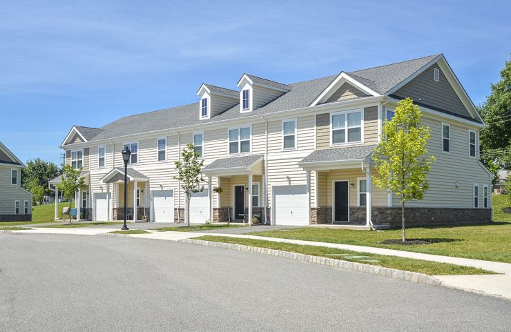 exterior photo of townhomes