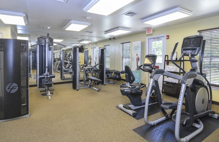fitness center with an array of machines