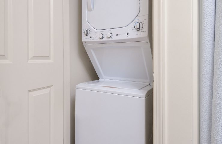 stackable washer and dryers in closet