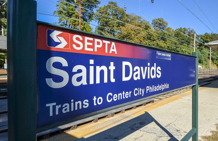 near septa station sign