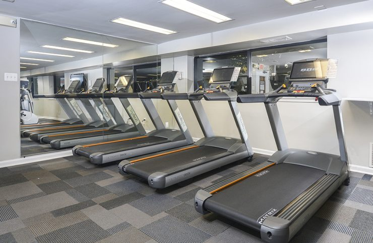 3 treadmills in the fitness center