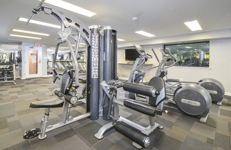 weight machine in the fitness center