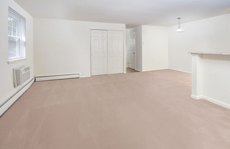 Empty living room and dining room
