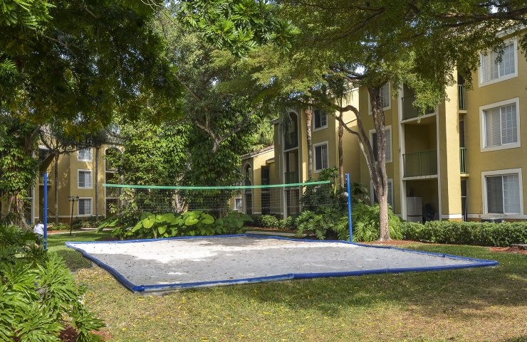 outdoor sand volleyball court